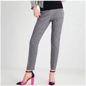 J. CREW Maddie Pants Full Length Trousers Gray 12P